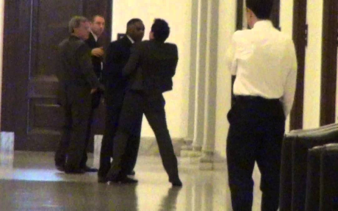 "Harry Reid's Bodyguard Physically Attacks ""Crapitalism"" Author Jason Mattera"